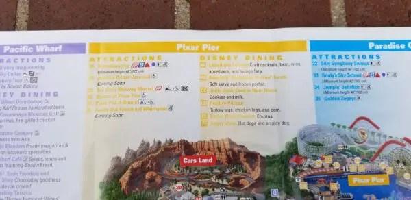 All New Disney California Adventure Park Maps Featuring Pixar Pier 5