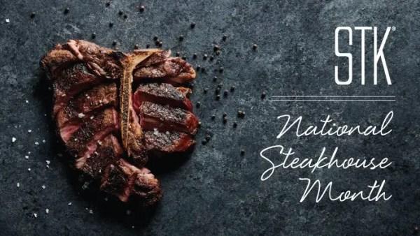 STK Orlando National Steak Month three course menu