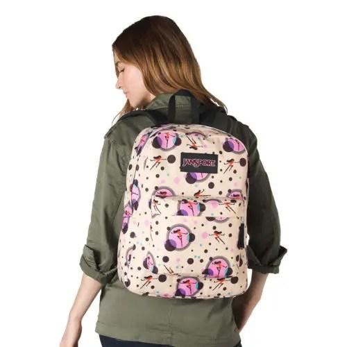 Violet Jansport Backpack
