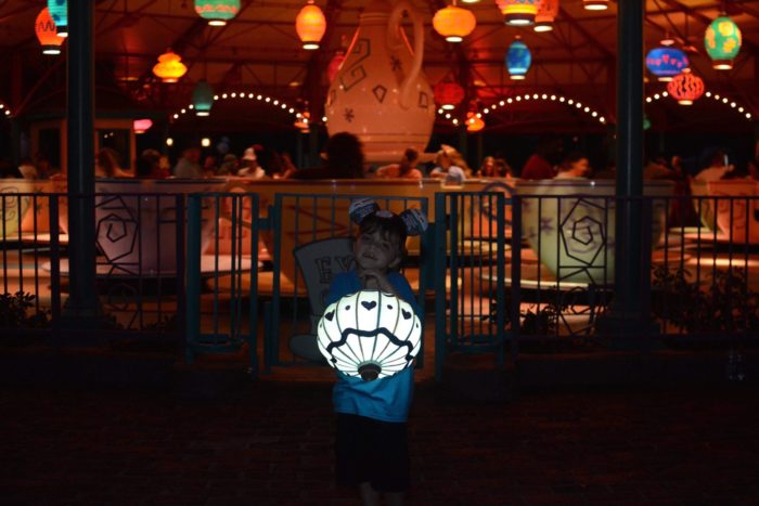 Mad Tea Party Magic Shot with the lanterns