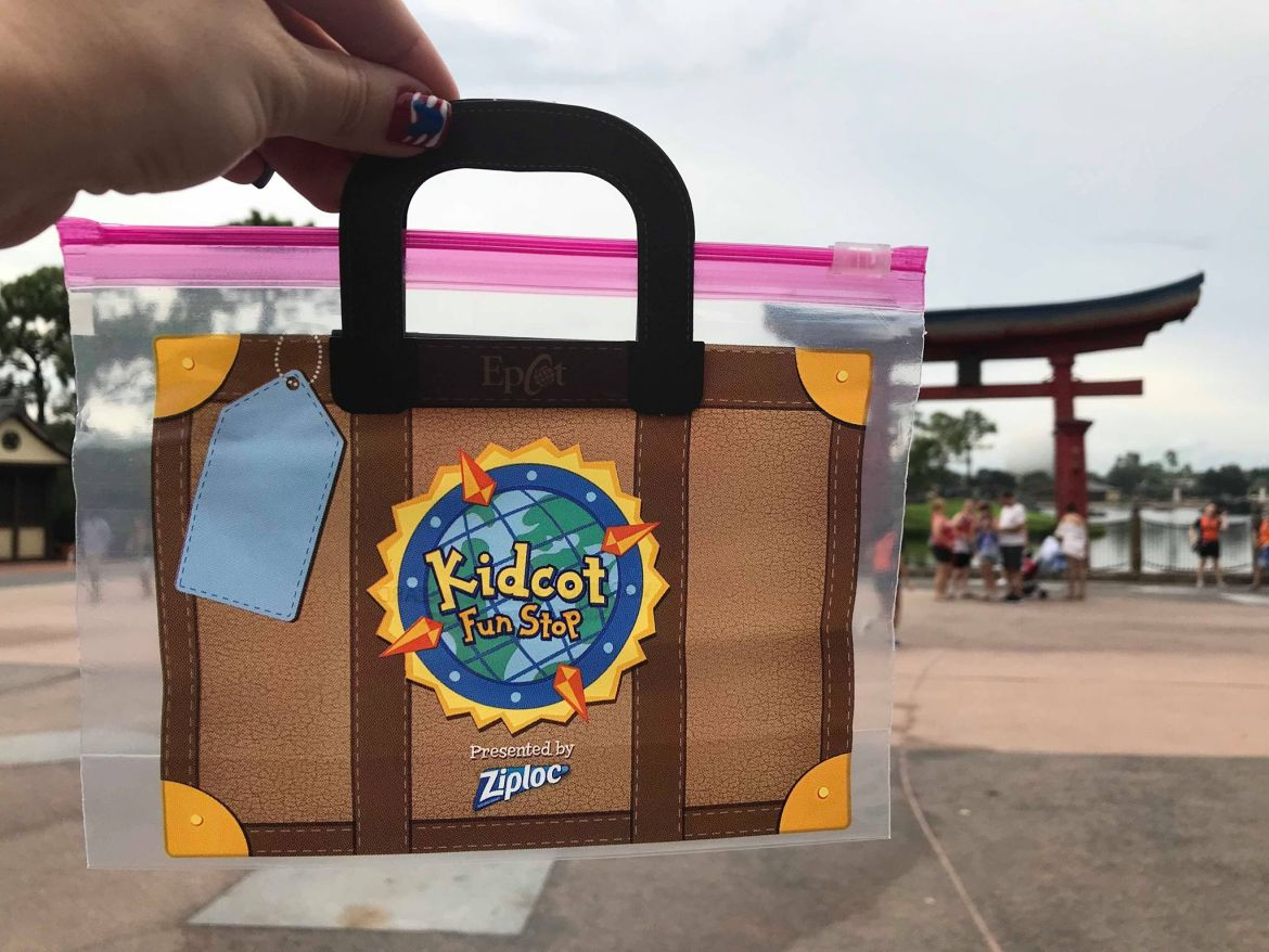 Ziploc Bags Duffy at Kidcot Fun Stops in Epcot