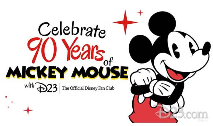 Celebrate 90 Years of Mickey Mouse