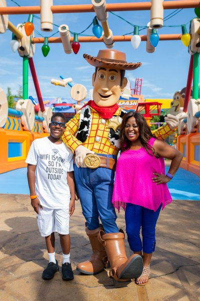 actress and comedian Sherri Shepherd visit Toy Story Land
