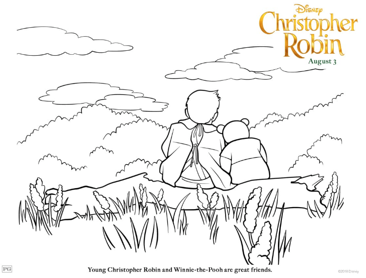"Disney's ""Christopher Robin"" Coloring Pages"