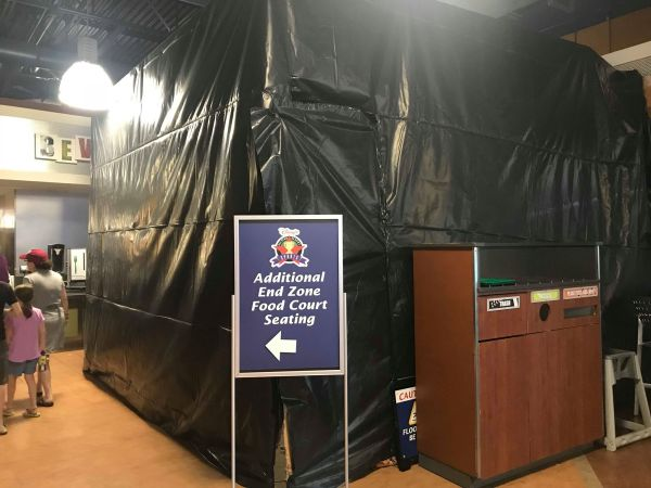 The End Zone Food Court Refurbishment Continues at Disney's All Star Sports Resort 2