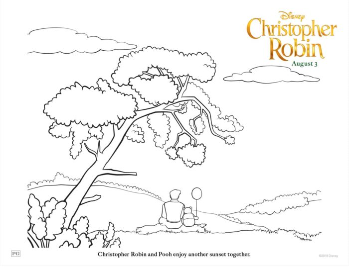 "Disney's ""Christopher Robin"" Coloring Pages 4"