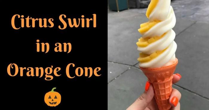 citrus swirl orange cone