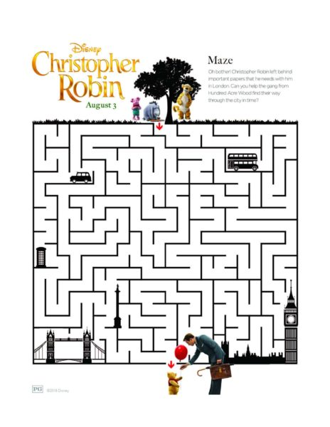 "Disney's ""Christopher Robin"" Coloring Pages 13"