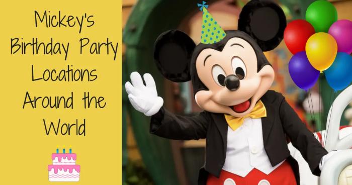 Mickey's 90th Birthday Celebrations around the World
