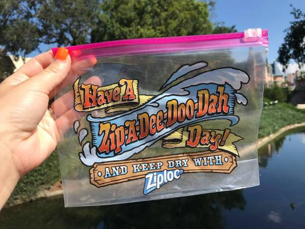 Splash Mountain Ziploc Bag