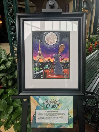 """Ratatouille Inspired """"Painting On De Bayou"""" Painting Classes Offered At Port Orleans 1"""