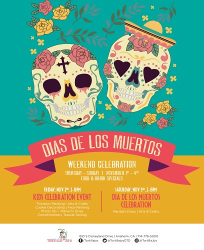 Celebrate Dias De Los Muertos At Tortilla Joe's