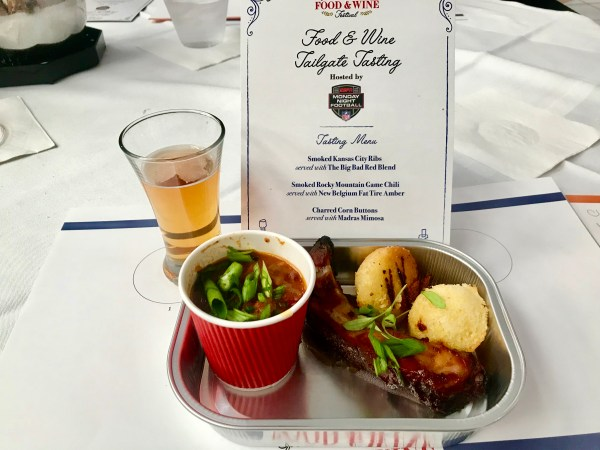 Epcot Food & Wine Tailgate Tasting - Review