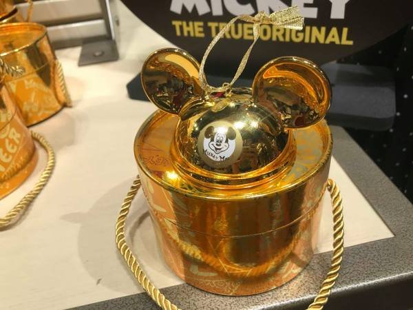 Mickey Mouse Club Gold Ornament