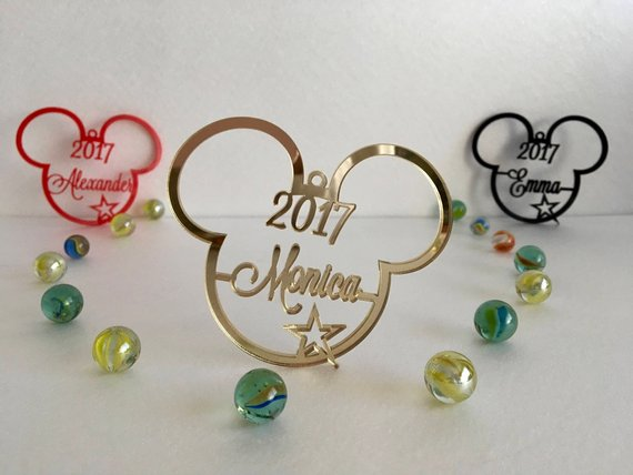 Mickey Personalized Ornaments