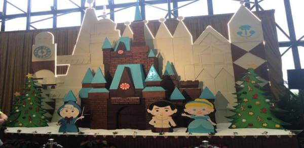 Gingerbread Castle Display Up at the Disney's Contemporary Resort