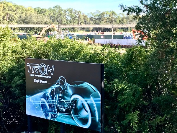 Tron Ride Construction Ramping Up