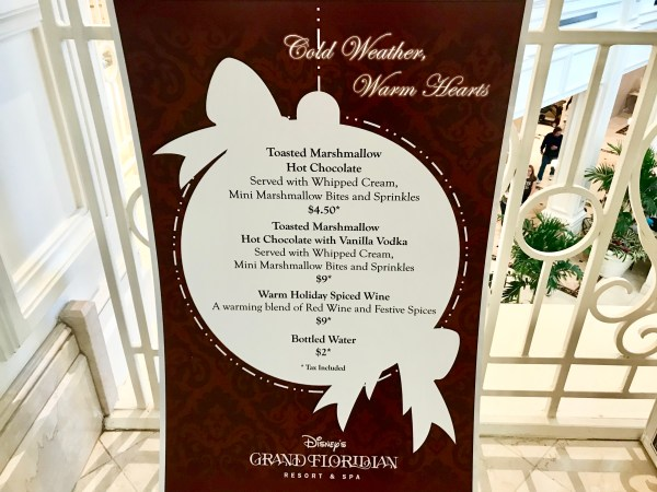 Holiday Beverages Now Available at the Grand Floridian
