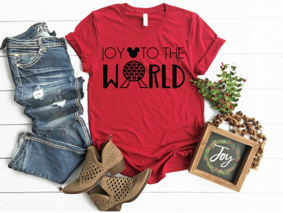 Joy To The World Epcot Inspired Holiday Tee