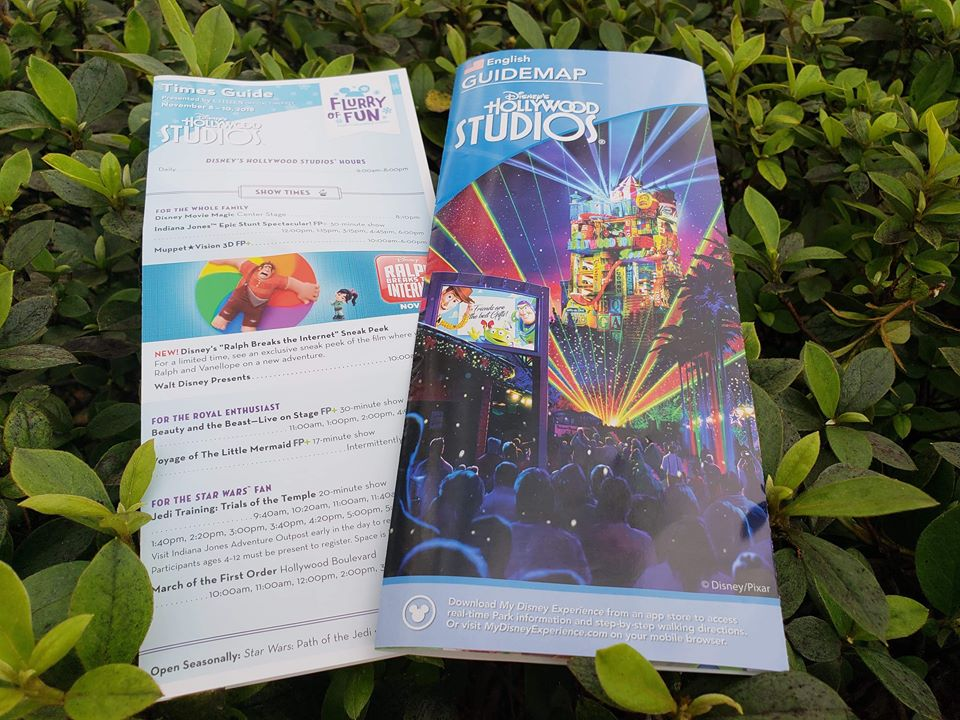 2018 Jingle BAM! Park Maps Released At Hollywood Studios