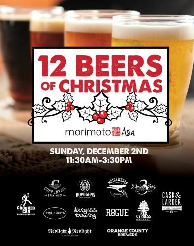 Iron Chef Morimoto Hosting The Twelve Beers Of Christmas
