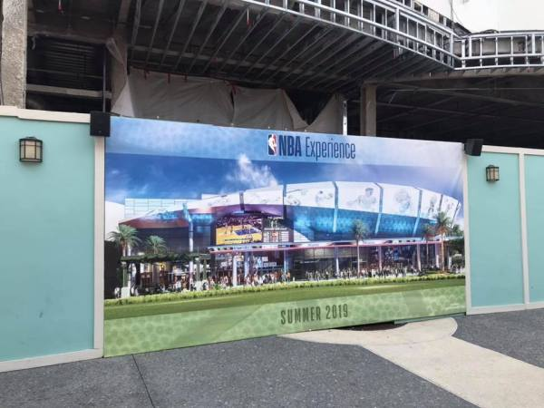 Construction Continues As NBA Experience Begins To Take Form