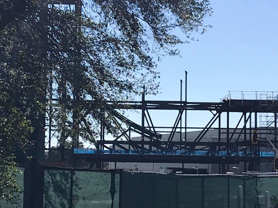 First piece of track installed for Guardians of the Galaxy Ride in Epcot