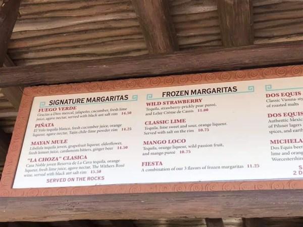 Margaritas Have New Names at Chozo de Margarita 1