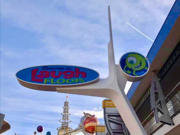 Monsters Inc. Laugh Floor In The Magic Kingdom Gets A New Show Sign 1