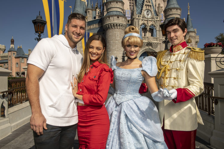 Tim Tebow and his fiancée celebrated their engagement at Walt Disney World!