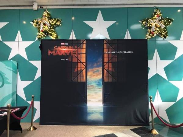 Captain Marvel Photo Opportunity at All-Star Movies