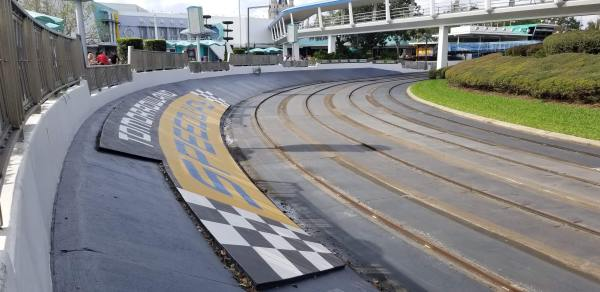 Tomorrowland Speedway is Temporarily Closed to Make Way for Tron