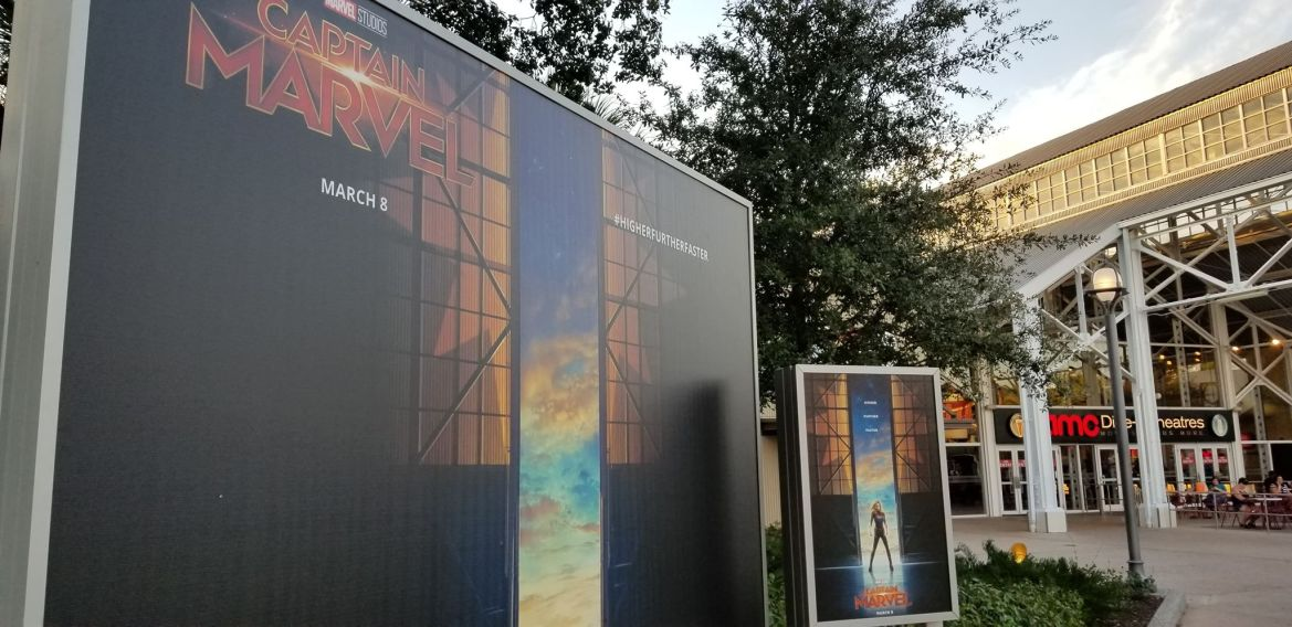 Captain Marvel Backdrop At Disney Springs
