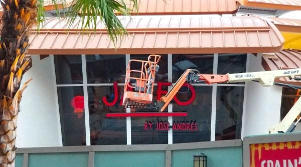 New Construction Progress for Jaleo at Disney Springs 2