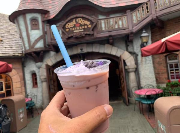 Enchanting Lavender Milk Tea Available at Disneyland