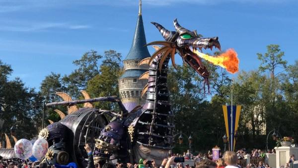 Maleficent Dragon Returns to Festival of Fantasy Parade 1