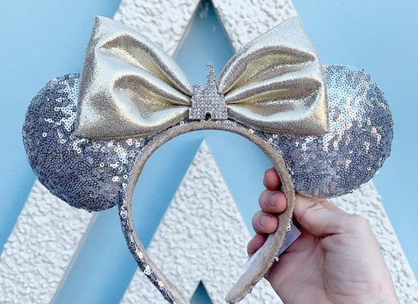Shimmery New Silver Disney Castle Minnie Ears 2