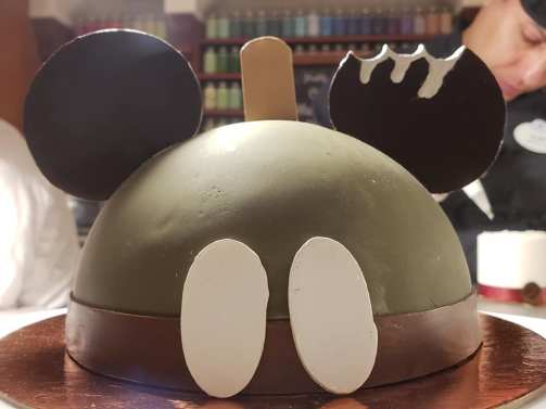 Mickey Premium Bar Cake Spotted at Amorette's Patisserie.