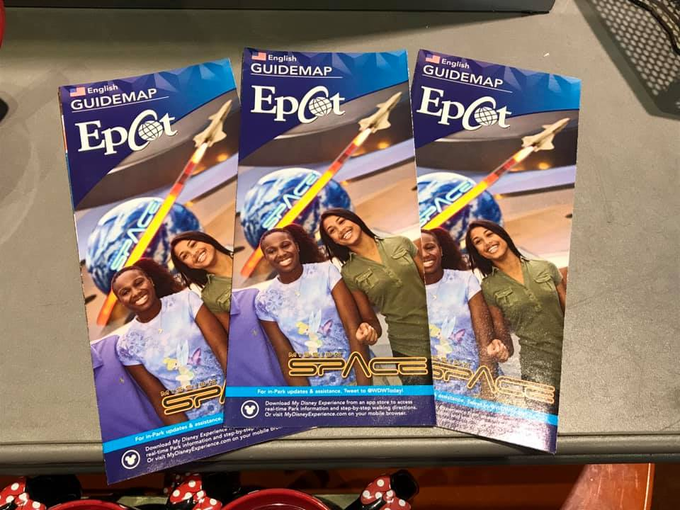 New 2019 Epcot Map Spotted at the Parks.