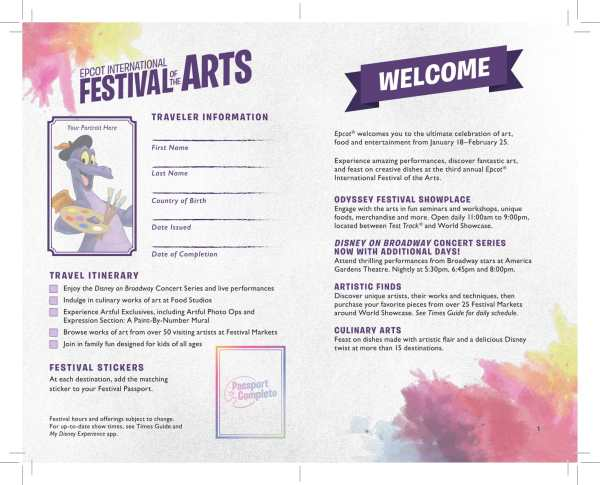 2019 Epcot International Festival of the Arts Passport Released 2