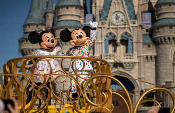 Party in Magic Kingdom during Mickey & Minnie's Surprise Celebration