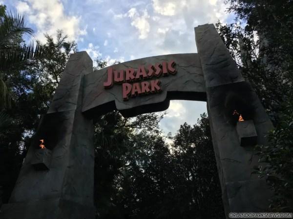 Jurassic Park Bridge Closing