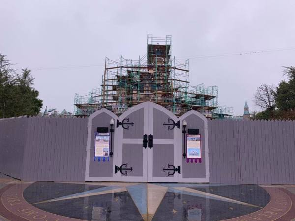 Sleeping Beauty Castle Construction Update 1