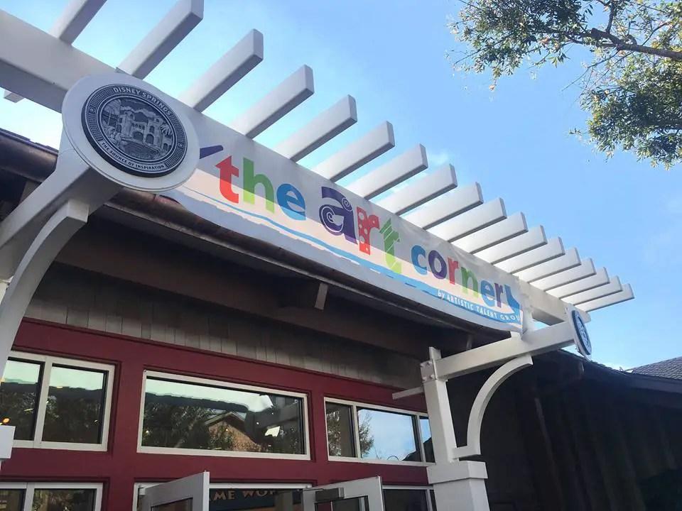 The Art Corner Now Open at Disney Springs