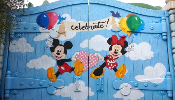 New Mickey and Minnie Celebrate Wall at Disneyland