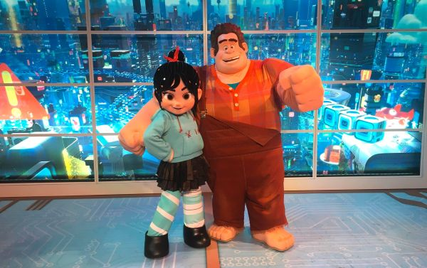 Wreck-it Ralph and Venellope Meet in Imageworks