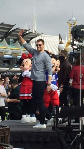 The Patriots in the Super Bowl Parade at Magic Kingdom 6