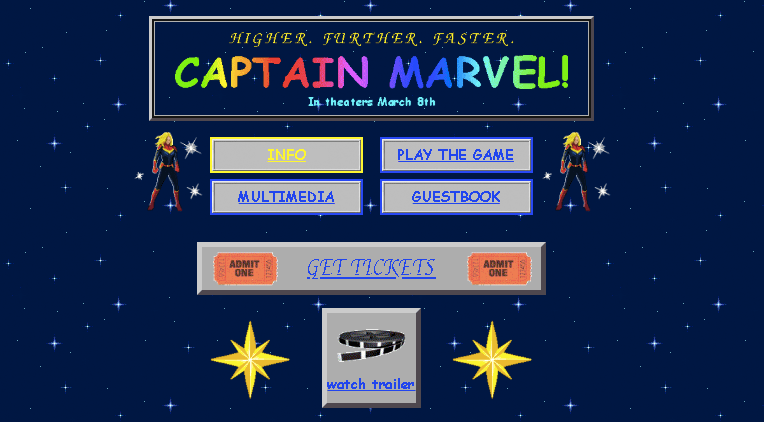 Captain Marvel Website Goes '90s Retro