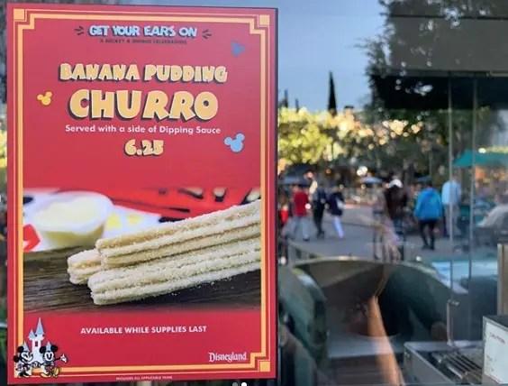 Banana Pudding Churro at Disneyland Makes Debut 2