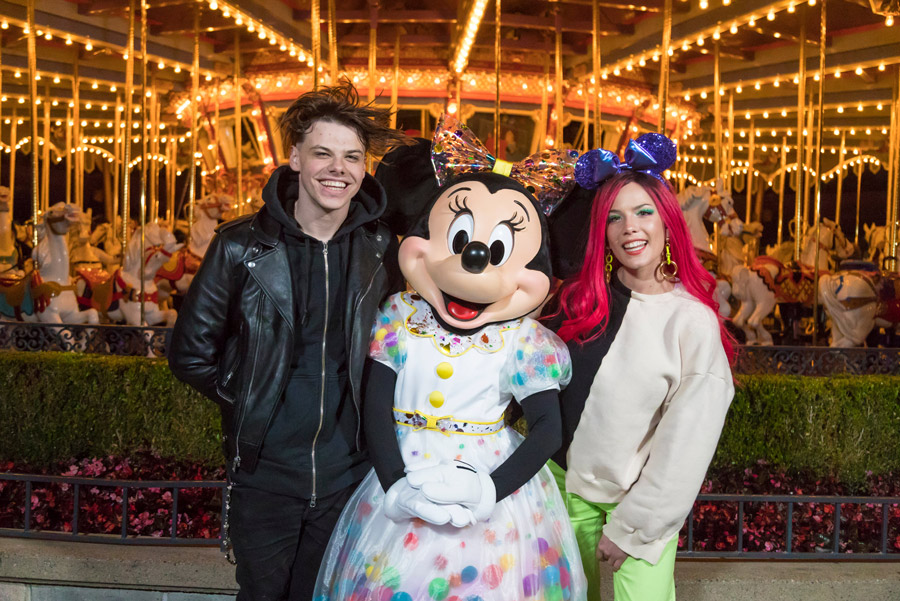 Pop Stars Halsey and Yungblud Have Date Night at Disneyland
